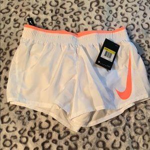 NWT White Nike Running Shorts